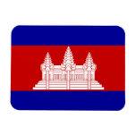 Bandera de Camboya Imán De Vinilo