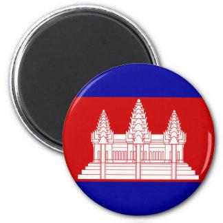 Bandera de Camboya Imán Redondo 5 Cm