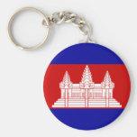 Bandera de Camboya Llavero Personalizado