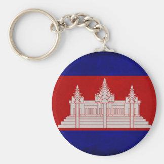Bandera de Camboya Llavero Redondo Tipo Pin