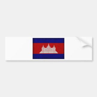 Bandera de Camboya Pegatina Para Auto