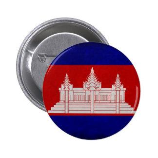 Bandera de Camboya Pin Redondo De 2 Pulgadas