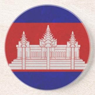 Bandera de Camboya Posavasos Personalizados