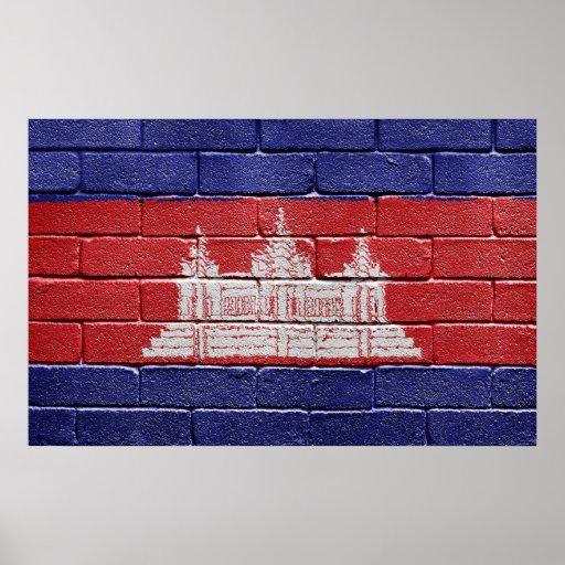 Bandera de Camboya Póster