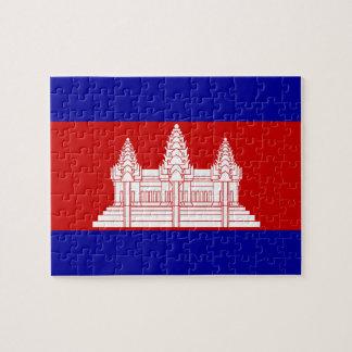 Bandera de Camboya Rompecabezas Con Fotos