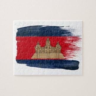 Bandera de Camboya Puzzles Con Fotos