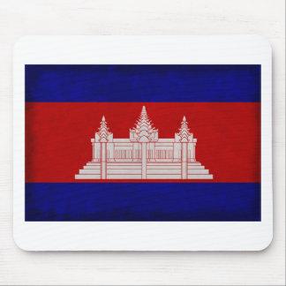 Bandera de Camboya Tapete De Ratones