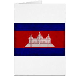 Bandera de Camboya Tarjeta De Felicitación