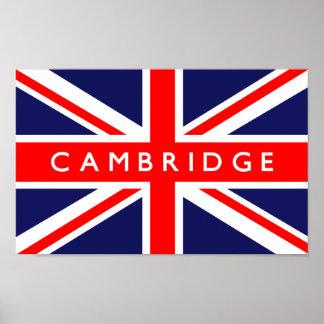 Bandera de Cambridge Reino Unido Póster