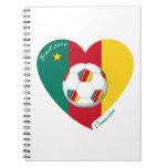 Bandera de CAMERÚN FÚTBOL de equipo nacional 2014 Libretas