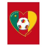 Bandera de CAMERÚN FÚTBOL nacional del mundo 2014 Postales