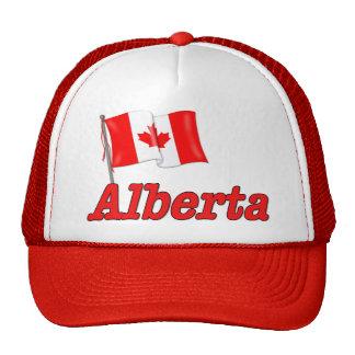 Bandera de Canadá - Alberta Gorras De Camionero