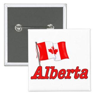 Bandera de Canadá - Alberta Pin Cuadrado