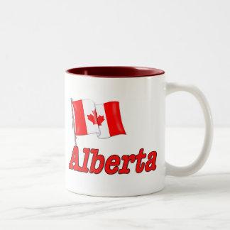 Bandera de Canadá - Alberta Taza De Dos Tonos
