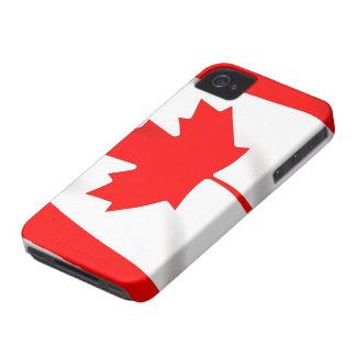 Bandera de Canadá Blackberry 9700/9780 intrépido, iPhone 4 Case-Mate Cobertura