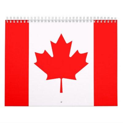 Bandera de Canadá Calendario