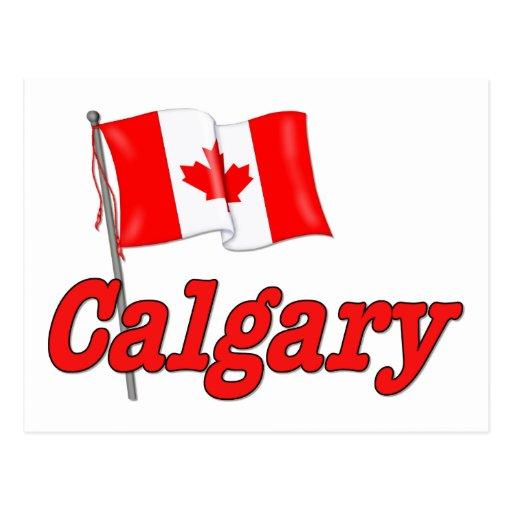 Bandera de Canadá - Calgary Tarjetas Postales