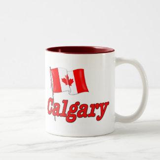 Bandera de Canadá - Calgary Tazas De Café
