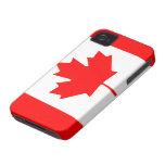 Bandera de Canadá Case-Mate iPhone 4 Protectores