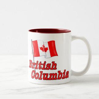 Bandera de Canadá - Columbia Británica Taza De Dos Tonos