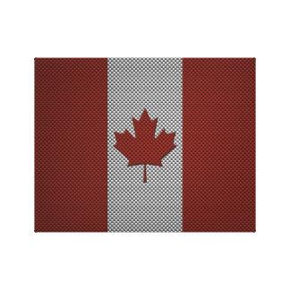 Bandera de Canadá con efecto de la fibra de carbon Impresion En Lona