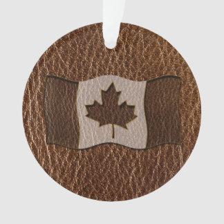 Bandera de Canadá de la Cuero-Mirada