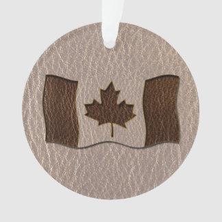 Bandera de Canadá de la Cuero-Mirada suave