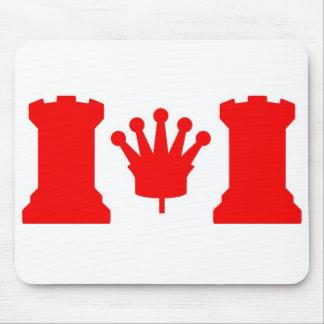 Bandera de Canadá del ajedrez Tapetes De Ratón