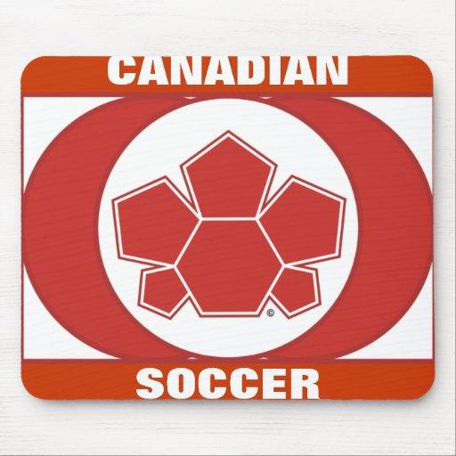 Bandera de Canadá del fútbol Alfombrilla De Ratón