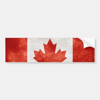 Bandera de Canadá del Grunge Pegatina De Parachoque