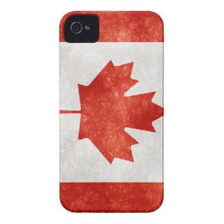 Bandera de Canadá del Grunge iPhone 4 Case-Mate Funda