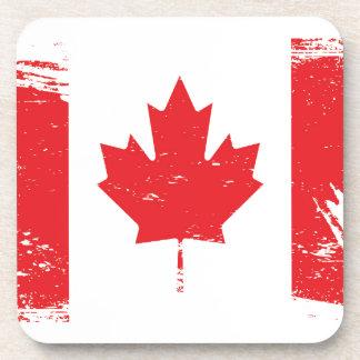 Bandera de Canadá del Grunge Posavasos