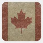 Bandera de Canadá del vintage Colcomania Cuadrada
