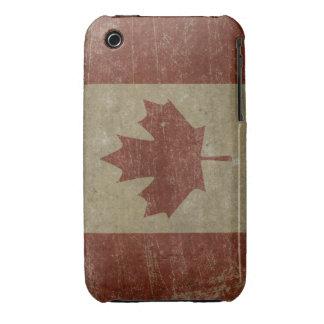 Bandera de Canadá del vintage Case-Mate iPhone 3 Carcasas