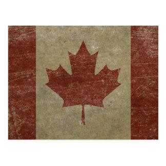 Bandera de Canadá del vintage Tarjetas Postales
