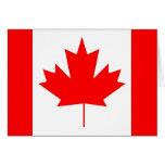 Bandera de Canadá, día feliz de Canadá Tarjetón