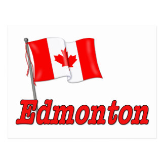 Bandera de Canadá - Edmonton