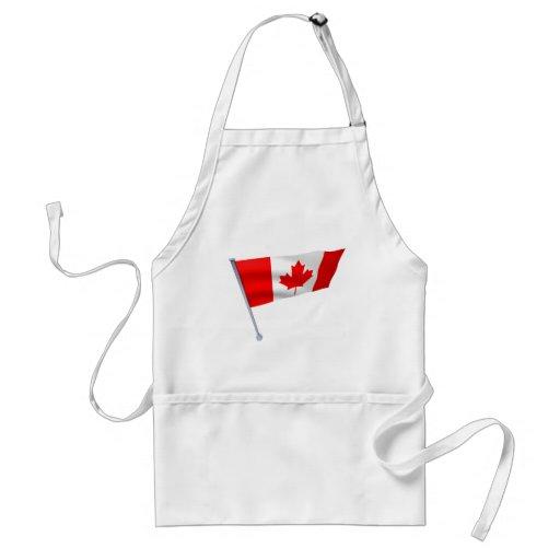 Bandera de Canadá en el viento Delantal