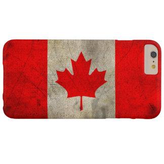Bandera de Canadá en Grunge Funda Para iPhone 6 Plus Barely There