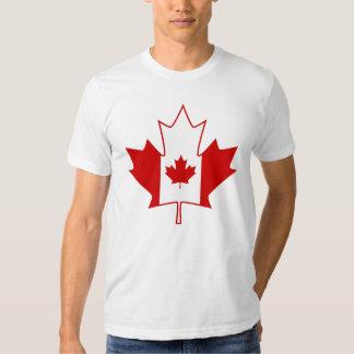Bandera de Canadá en la hoja de arce - camiseta Playera
