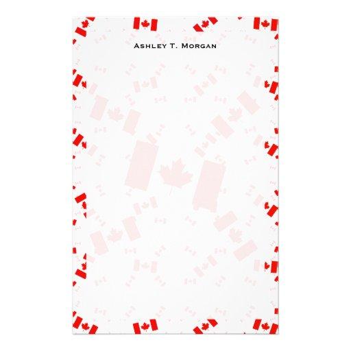 Bandera de Canadá en las capas coloridas múltiples Papelería