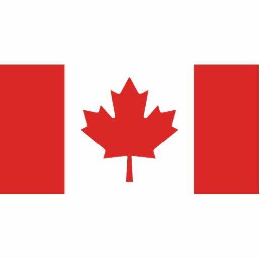 Bandera de Canadá Fotoescultura Vertical