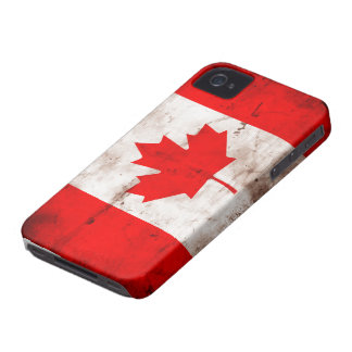 Bandera de Canadá iPhone 4 Case-Mate Funda