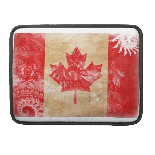 Bandera de Canadá Fundas Para Macbooks