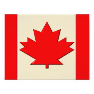 """Bandera de Canadá Invitación 4.25"""" X 5.5"""""""