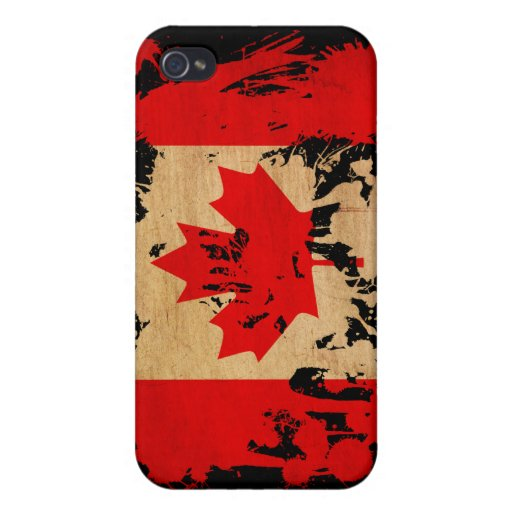 Bandera de Canadá iPhone 4/4S Carcasas
