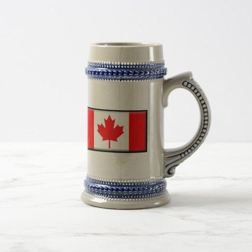 Bandera de Canadá Jarra De Cerveza