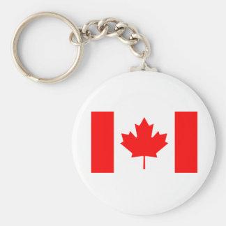 Bandera de Canadá Llavero Redondo Tipo Pin
