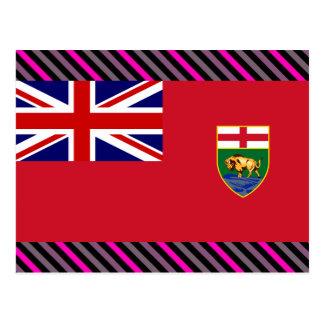 Bandera de Canadá Manitoba Postal