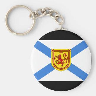 Bandera de Canadá Nueva Escocia Llavero Redondo Tipo Pin